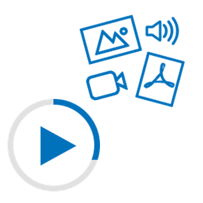 Videos, PDFs, animated gifs, autoplay