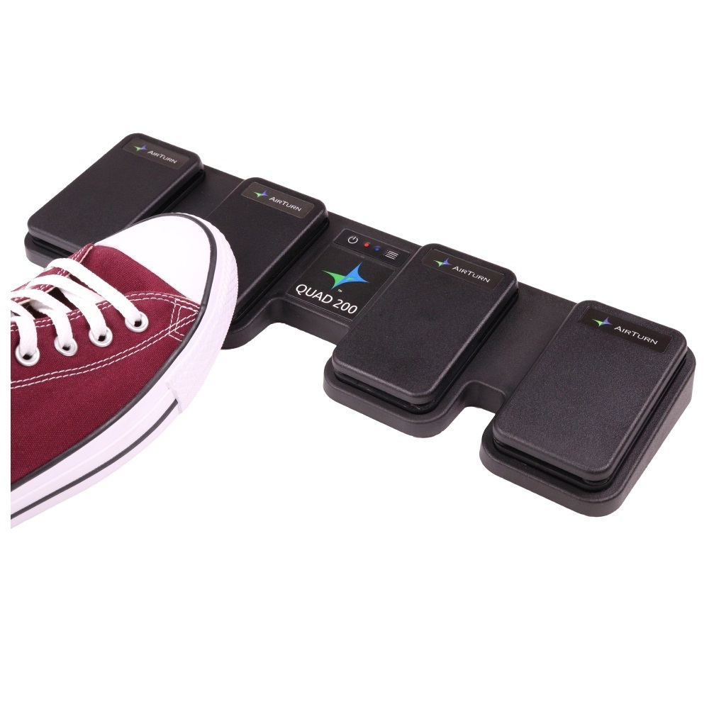 Touchless pedal remote