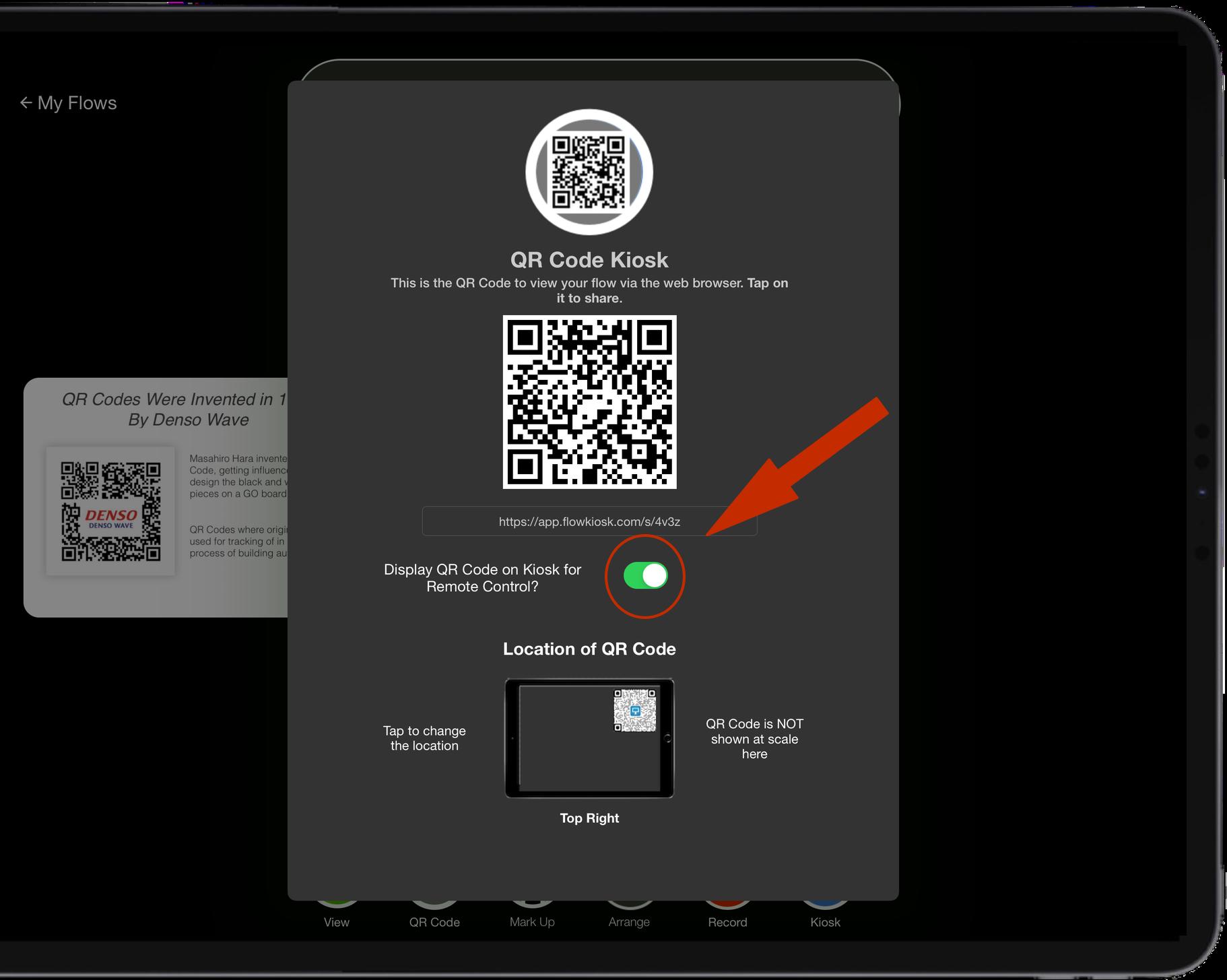 qr-code-kiosk-display-settings